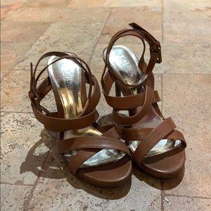 Ralph Lauren tan heels